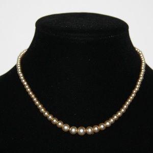 """Vintage cream pearl necklace 16"""""""